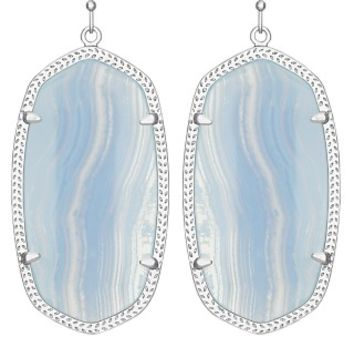 Danielle Earrings in Blue Lace Agate - Kendra Scott Jewelry