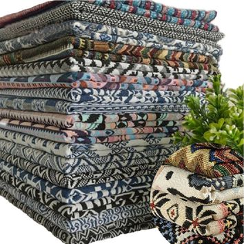 Multicolor Ethnic Style Decor cotton linen Fabrics, Clothing material, sofa cover,cushion,tablecloth, curtains,Cover Cushion Clo