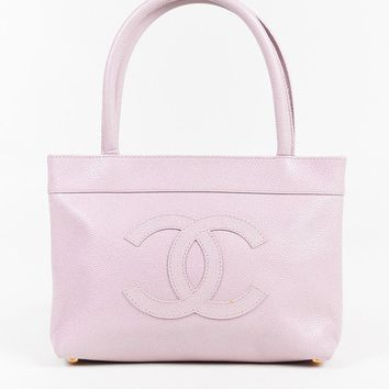 Chanel Light Pink Caviar Leather 'CC' Tote Bag