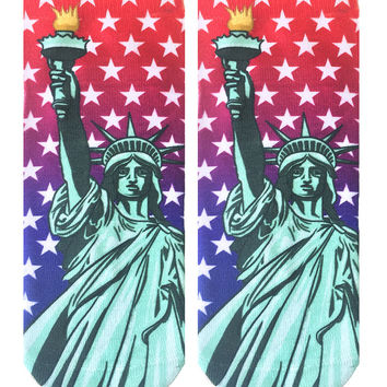 Statue Of Liberty Ankle Socks