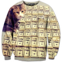 Cash Cat Money Crewneck