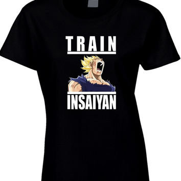 Train Insaiyan Dragon Ball Womens T Shirt