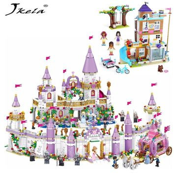 [Hot] Girl Friends Compatible with legoingly Friendship House Heartlake City Building Block Kids gift Toys for children