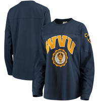 Women's Navy West Virginia Mountaineers Edith Long Sleeve T-Shirt