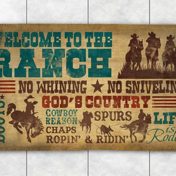 Welcome To The Ranch Accent Rug