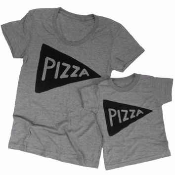 Pizza Slice Mommy and Me Shirts