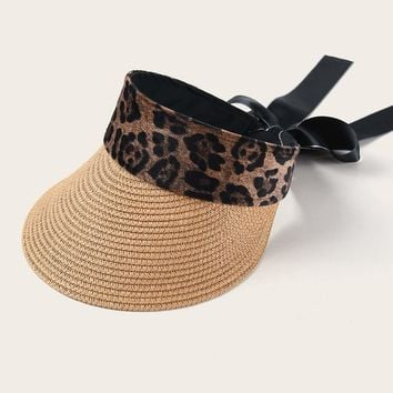 Leopard Visor with Bow Detail