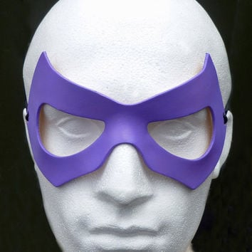 THE RIDDLER Mask in Leather. Designed & Hand Crafted in Wales.