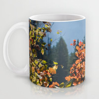 Fall Leaves Ceramic Mug, Tree Mug, Large Mug, Leaf Mug, Nature Mug, Large Tea Mug, Large Coffee Mug, Art Mug, Unique Mug, Photo Mug,