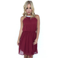 Precious As A Pearl Dress In Wine
