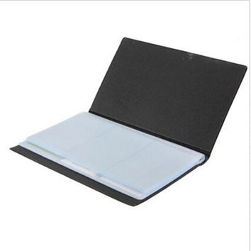 Stationery Business Name ID Credit Card Holder 120 Cards Leather Keeper Organizer Book Note Holder School Office Supplies