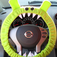 MARTY MADE to Order Lime Green GENUINE Monster Steering Wheel Cover