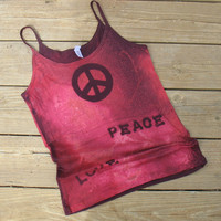Yoga Tank Peace & Love Medium