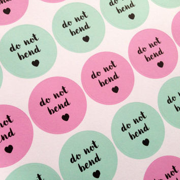 Do Not Bend Sticker Sheet, Fragile, Handle With Care, Postage, Package, Mailing, Shipping Stickers