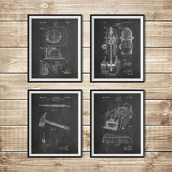 Firefighter Decor, Patent Print Group, Firefighter Art Gift, Firefighter Wall Art, Fireman Art Gift, Fireman Printable, INSTANT DOWNLOAD