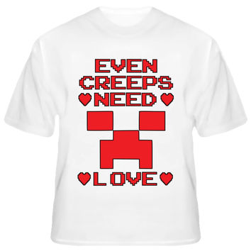Youth Even Creeps Need Love Creeper Heart T-Shirt