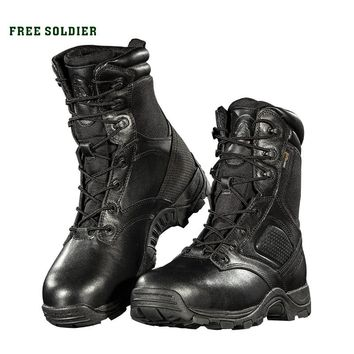 FREE SOLDIER Outdoor Sports Camping Hiking Winter High Tactical Boots For Male Waterproof  Combat boots