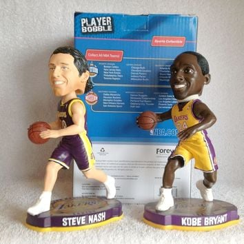 steve nash and kobe bryant bobblehead set  number 1