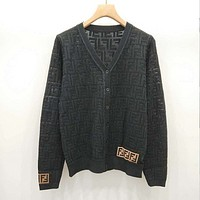 FENDI Women Hollow Knitwear Coat