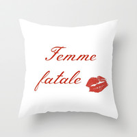 Femme fatale Throw Pillow by clemm