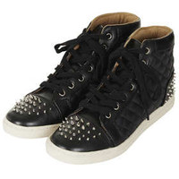 ABSOLUTE Stud Quilted Hi Tops - View All  - Shoes