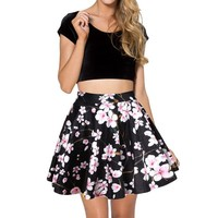 Voglee Women's Flared Stretch Soft Pleated Mini Dress Skater Skirt