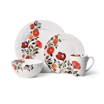 Gourmet Basics by Mikasa Tulips 16-Piece Dinnerware Set | Overstock.com Shopping - The Best Deals on Casual Dinnerware