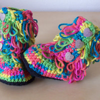 baby crochet boots, ugg style boots, baby girl clothes