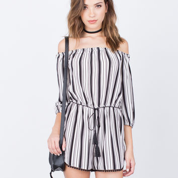 Blurred Lines Romper