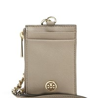 Women's Tory Burch 'Robinson' Saffiano Leather Card Case