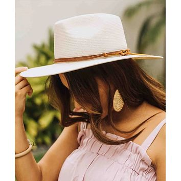 Lindsey Cream Straw Hat