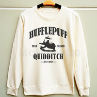 S M L - Hufflepuff Shirts Harry Potter Shirts Hufflepuff Quidditch Sweatshirt Jumpers Long Sleeve Sweater Unisex Shirt Women Shirt Men Shirt