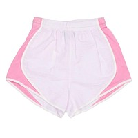 Shorties Shorts in Pink Seersucker by Lauren James