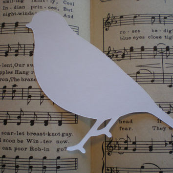 Large White Die Cut birds-White Wedding Birds-set of 15-  great for scrapbooking,  weddings, showers, parties