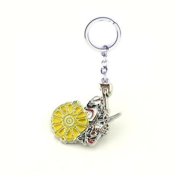 New God of War 4 Kratos Weapons Blade of Chaos Zinc Alloy Metal key chain ring Birthday for Men