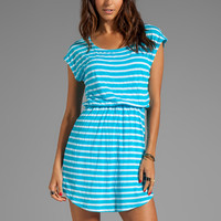Splendid Short Sleeve Stripe Dress in Turkish Blue from REVOLVEclothing.com