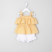 Mini girls yellow top and shorts outfit - Baby Girls Outfits - Mini Girls - girls
