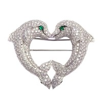 Cartier A Heart-shaped Dolphins Brooch