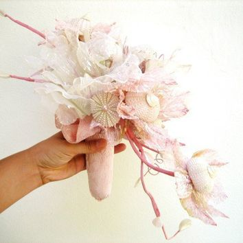 Sea Urchin Collection Bridal Bouquet by StaroftheEast on Etsy