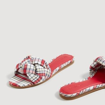 Check flat sandals - Women | MANGO United Kingdom