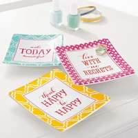Inspirational Word Jewelry Trays