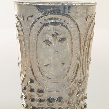 """Decorative Glass Floral Vase in Silver Gold - 4.5"""" Tall"""