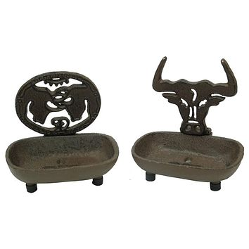 Rust Western Soap Dish Set of 2