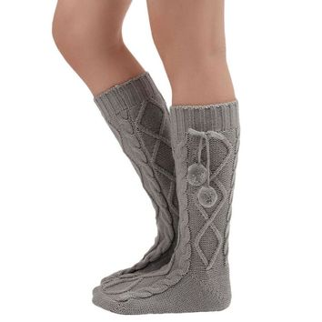 Fashion winter Leg Warmers Women Knitted Long Boot Socks Over Knee Thigh High Leg Warmers calcetines mujer #48
