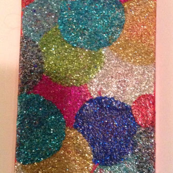 Glitter polka dot iphone case