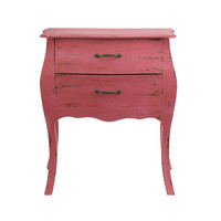 Dusty Rose Two-Drawer Chest