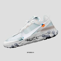 "Off white x Nike Upcoming React Element 87 ""OW White"" Running Shoes AQ0068-100"