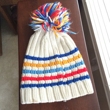 Vintage 90s striped beanie