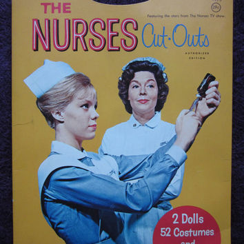 Retro 1975 The Nurses Cut-Outs Paper Doll Set CBS American Television Series Whitman Publishing