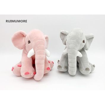 Free Drop Shipping Baby Kid's Kawaii Elephant 20CM 7.9' Plush Stuffed TOY DOLL , Gift Sucker Pendant decoration Plush TOY
